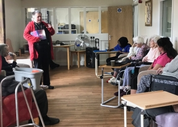 Church service at Bellavista Nursing Home Cardiff